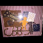 Antique Cloth Primitive Paper Dolls Calico Fabrics