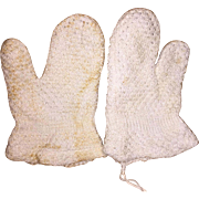 Antique Early Pa. Small Child's Knit Mittens
