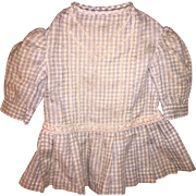 Antique Gingham Doll or Teddy Bear Dress