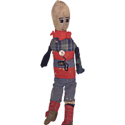 Antique Folk Art Cloth Sock Doll