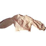 Antique Pin Stripe Early Doll Blouse