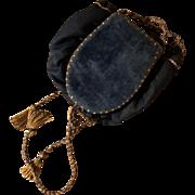 Antique Victorian Velvet Pin Keep Sewing Holder