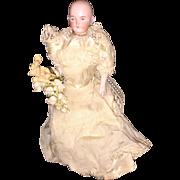 Antique Dome Head Bisque Shoulder Head Miniature Dollhouse Doll