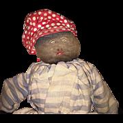 Antique American Folk Art Topsy Turvy Cloth Rag Doll
