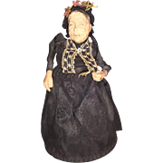 Antique Old Woman Character Doll Pin Cushion