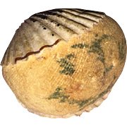 Antique Victorian Theroum Shell Pincushion