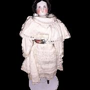 Antique German All Original Civil War Era China Head Doll