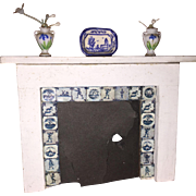 Miniature Wooden Dollhouse Fireplace Mantle
