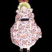 Antique German Parian Molded Bonnet Doll