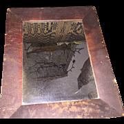 Antique Federal Era First Surface Shaving Mirror