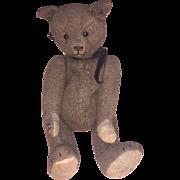 Antique All Original German Woven Burlap Type Mohair Bear