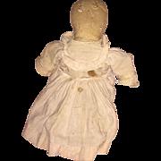 Antique Folk Art Americana Cloth Straw Stuffed Rag Doll