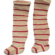 Antique Knit Striped Doll Socks