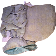 Antique Sewing Pin Keeper Bonnet