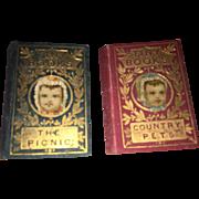 Antique Miniature Dollhouse Rare Tiny Books