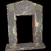 Antique Primitive Miniature Doll House Cabinet Window Insert