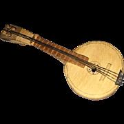 Old Miniature Dollhouse Banjo Walnut