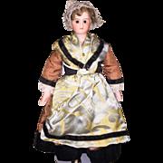 Antique JV Jules Verlingue French Bisque Shoulderhead Doll