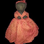 Antique Cloth Folk Art Calico Dress Topsy Turvy Rag Doll