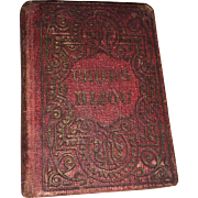 """Antique Miniature Rare Book """" The Child's Bijou"""" published by Breed & Butler in 1861"""