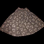 Antique Grey Chintz Doll Skirt