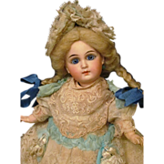 """12 1/4"""" Belton Sonneberg French Face Bisque Head Doll"""