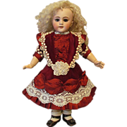 "Velvet Taffeta Lace Dress fits 18"" -19 ½"" (48cm) Antique French Bebe or German Doll"