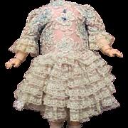 "Lace Doll Dress Slip Pantaloons Fits 28""-30""Antique French Eden Bebe SFBJ German Kestner or Repro Modern Doll."