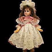 "Sale ~ Cotton Dress, Lace Pinafore, Bonnet fits doll about 24-26""(61-66cm) Antique German or French Bebe"