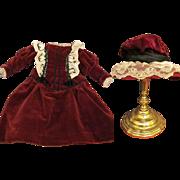 Sale! Dress, Hat, undergarments  fits 19-20 inches Doll  French Bebe Jumeau SFBJ Steiner or German Kestner.