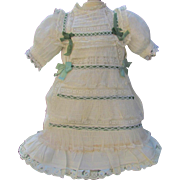 "Antique Doll Dress, slip fits 19-20"" French or German Doll"