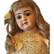 "26"" Kestner Doll 146 with sleep brown eyes and her original stamped body!"