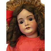 "27"" Kestner Doll 164 with sleep huge brown eyes!"