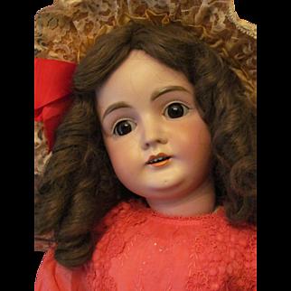 """27"""" Kestner Doll 164 with sleep huge brown eyes!"""