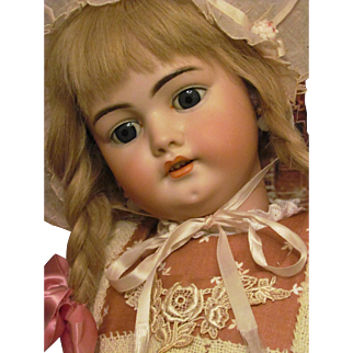 """Very Charming! 26"""" Simon Halbig 1079  steel blue sleep eyes! Big Child Doll in super condition! Available on Layaway!"""
