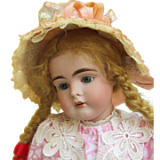 """German Kestner Doll Mold 161 Rare to find! Cabinet size 18 ½"""" in original Kestner body. Sweet and shy little Girl available on Layaway."""