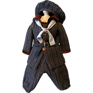 """Wool Boy's Sailor Costume Jacket Pants Hat fits a doll around 23"""""""