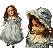 Silk Dress with Bonnet fits 17-19 inches French Bebe or German Doll