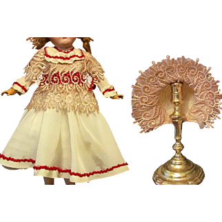 "Taffeta Dress, Bonnet fits 18-20"" German or French Doll"