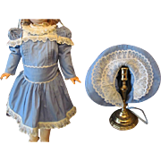"Cotton Dress,Bonnet Set of Undergarments fits doll  26-27""(67-71cm) Antique German or French Bebe"