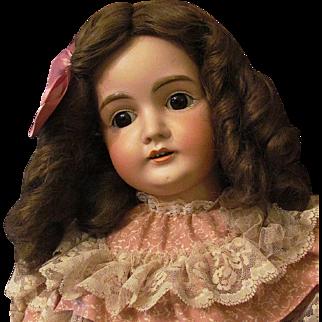 """Darling 28"""" Kestner Mold 164, wonderful brown glass sleep eyes. Layaway!"""