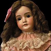 """Sale ~ Darling 27"""" Kestner Mold 164, wonderful brown glass sleep eyes."""