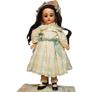 """Beautiful 18"""" Francois Gaultier  Bebe open mouth rare two rows teeth FG  French Antique Bebe!  1890Ca+"""