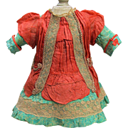 "French Silk Doll Dress Fits 18-19"" Antique French Doll Jumeau Dress Steiner Eden Bebe"