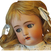 "Astonishing 22""  German Doll by Kammer & Reinhardt with sleep/ flirty grey eyes,  Dressed in a fabulous White eyelet dress ~Layaway~"