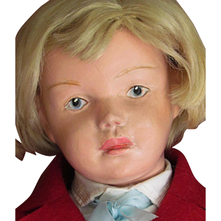 "19""  Schoenhut Doll Rare Model 407! ~~~Layaway is available up to 10 months! ~~~Fantastic Wooden Character Boy Doll"