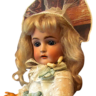 "18"" Antique German Kestner Doll ~~ Original sleep blue eyes and matching marked body! No repairs or repaint. Mint Condition! ~Layaway~"