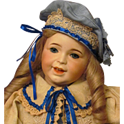 "21"" Antique French Doll SFBJ ~ Mold 236 Laughing Jumeau Toddler ~1899Ca+ ~Adorable Happy Child in the Sailor Costume~~ Layaway~~"