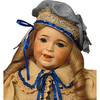 """21"""" Antique French Doll SFBJ ~ Mold 236 Laughing Jumeau Toddler ~1899Ca+ ~Adorable Happy Child in the Sailor Costume~~ Layaway~~"""