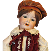 "Darling! 18"" Armand Marseille 590 character child Boy Doll on German slant hip original ball jointed toddler composition body!"